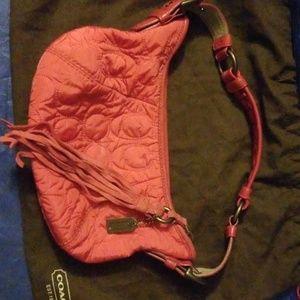 Hot Pink Soho Sig Coach Hobo Bag